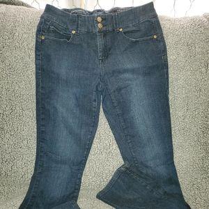 Cache Slim Boot Stretch Jeans Size 6 B2